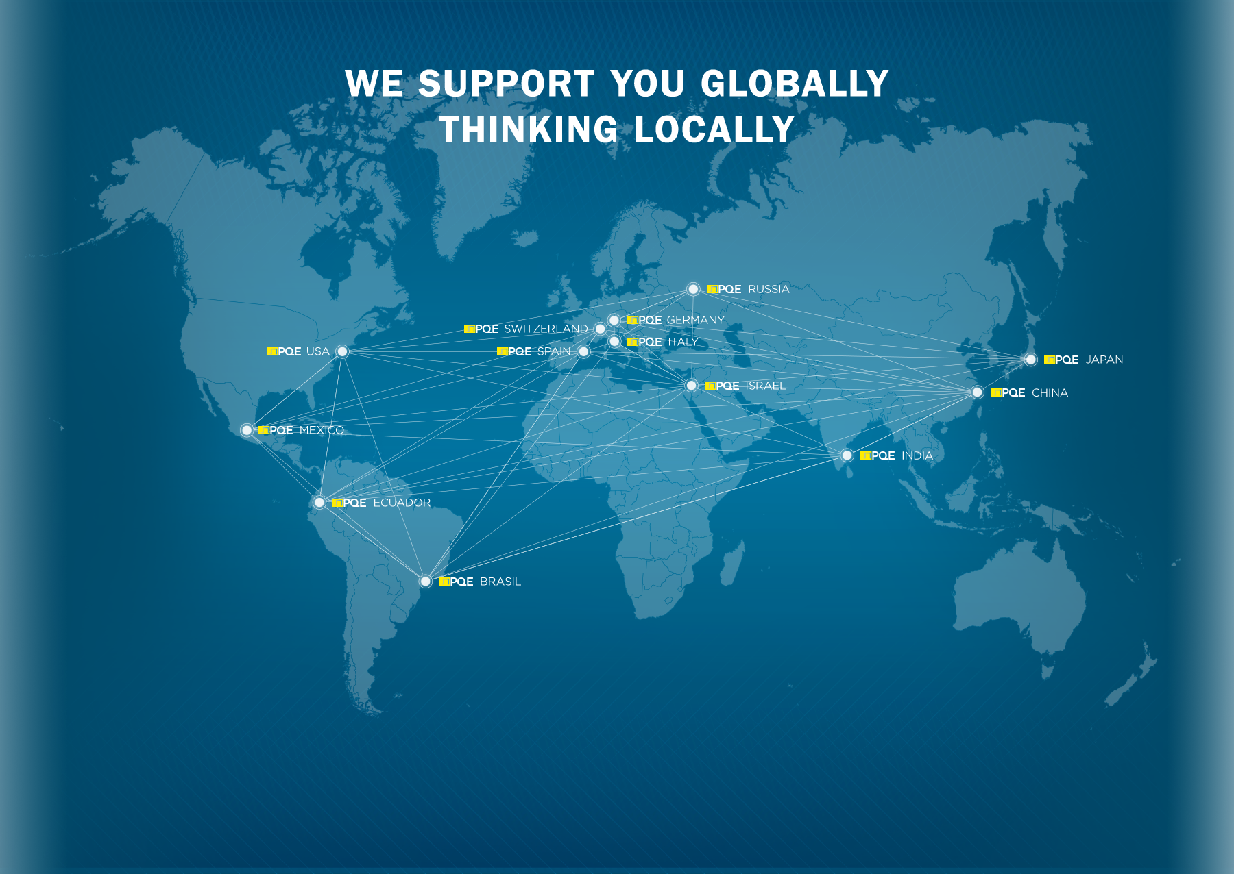 we support you globally, thinking locally