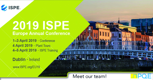 ISPE Europe Annual Meeting dublin 2019 PQE
