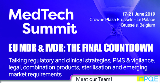MedTech Summit 2019 Brussels_Bruxelles save the date PQE