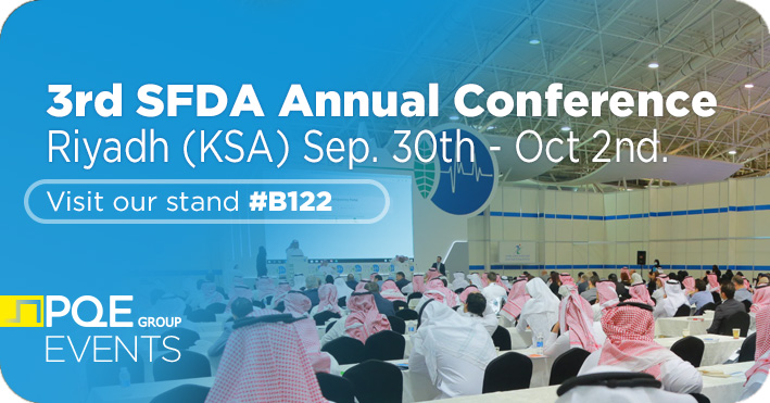 3rd SFDA Annual Conference Riyadh KSA 2019 PQE Group stand b122