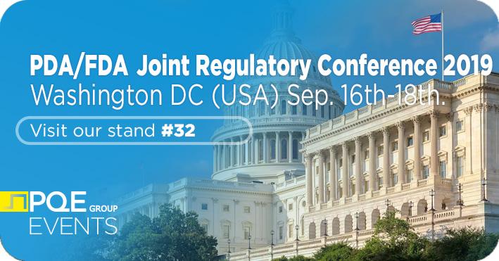 PDA FDA Joint Regulatory Conference Washington DC PQE Group stand 32