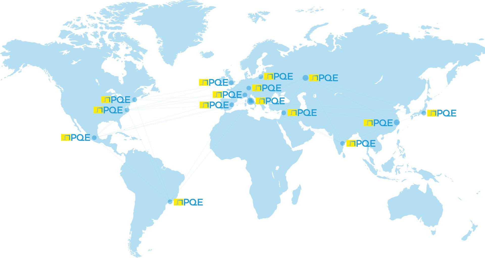 PQE Group global map