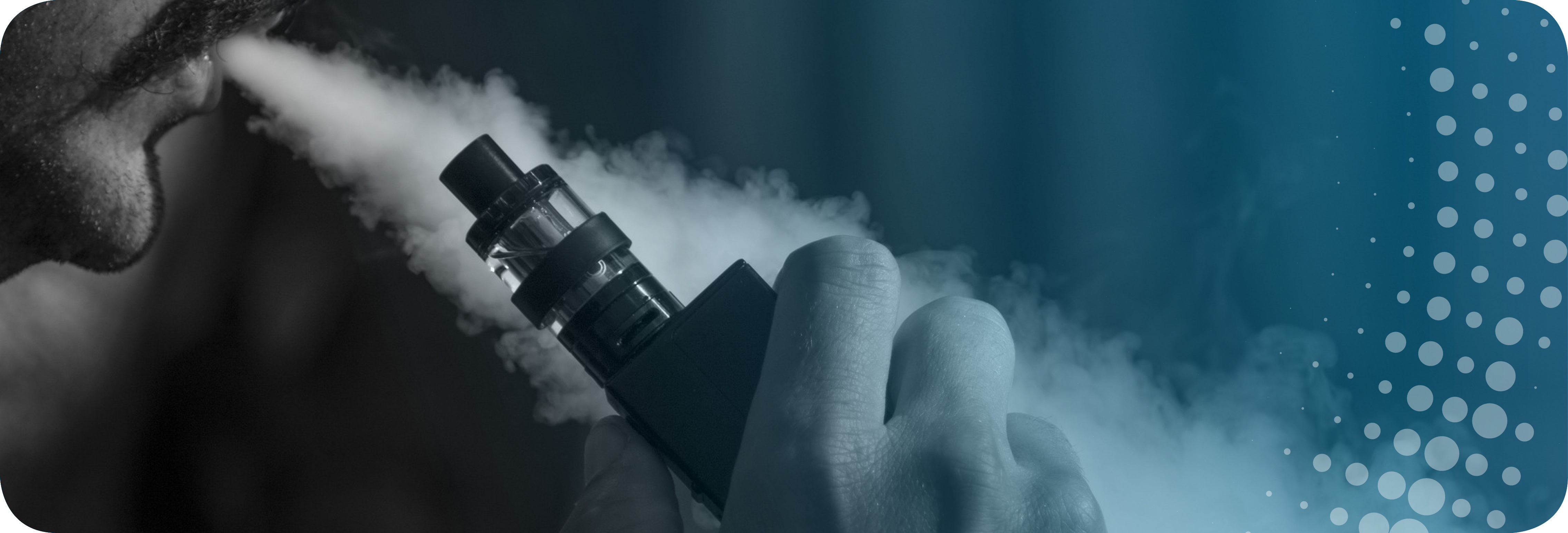 vaping suspected long term consequences health risks and death. man vaping. need for regulation