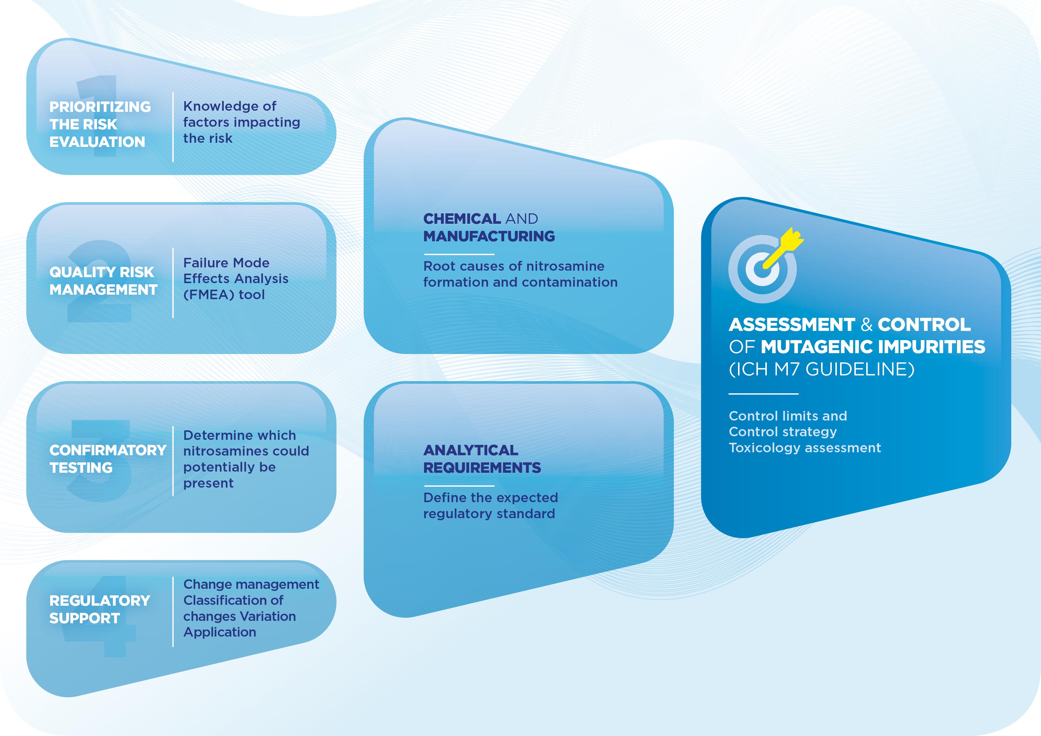 CDMh nitrosammine impurities assessment and control ICHm7 guideline flow